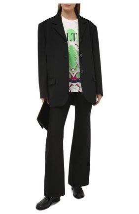Женская хлопковая футболка VALENTINO разноцветного цвета, арт. VB3MG11W6AK   Фото 2