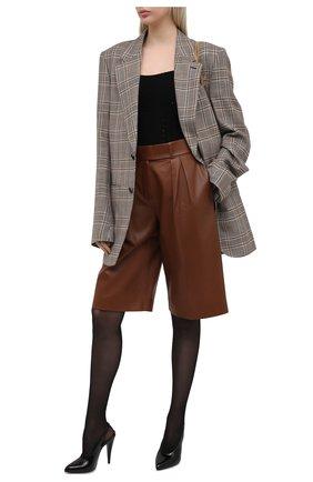Женские кожаные туфли venus SAINT LAURENT черного цвета, арт. 637731/1TV00 | Фото 2 (Материал внутренний: Натуральная кожа; Каблук высота: Высокий; Подошва: Плоская; Каблук тип: Шпилька)