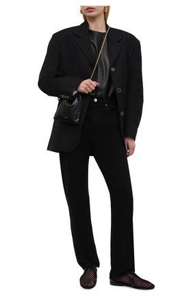 Женская текстильные дерби timothee SAINT LAURENT черного цвета, арт. 649417/20X40 | Фото 2 (Подошва: Плоская; Материал внешний: Текстиль; Каблук высота: Низкий; Материал внутренний: Натуральная кожа)