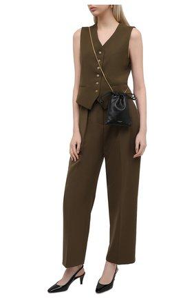 Женские кожаные туфли kristen SAINT LAURENT черного цвета, арт. 650781/1TV00 | Фото 2 (Каблук высота: Средний; Подошва: Плоская; Материал внутренний: Натуральная кожа; Каблук тип: Устойчивый)