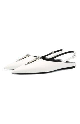 Женские балетки zipit STELLA MCCARTNEY белого цвета, арт. 800314/W0YG0 | Фото 1
