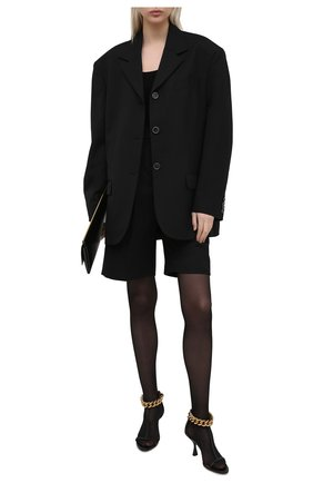 Женские босоножки falabella STELLA MCCARTNEY черного цвета, арт. 800319/W1DX0 | Фото 2