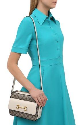 Женская сумка gg 1955 horsebit GUCCI белого цвета, арт. 645454/92TCG | Фото 2