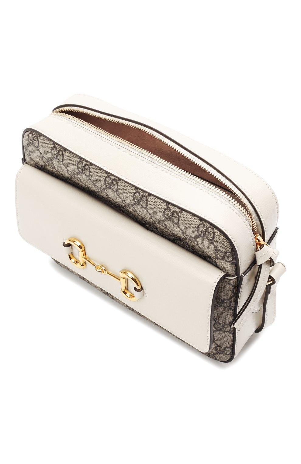 Женская сумка gg 1955 horsebit GUCCI белого цвета, арт. 645454/92TCG | Фото 4