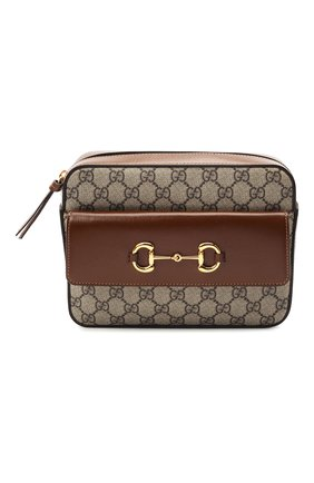 Женская сумка gg 1955 horsebit GUCCI коричневого цвета, арт. 645454/92TCG | Фото 1