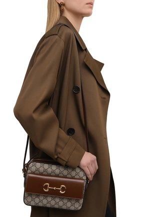 Женская сумка gg 1955 horsebit GUCCI коричневого цвета, арт. 645454/92TCG | Фото 2