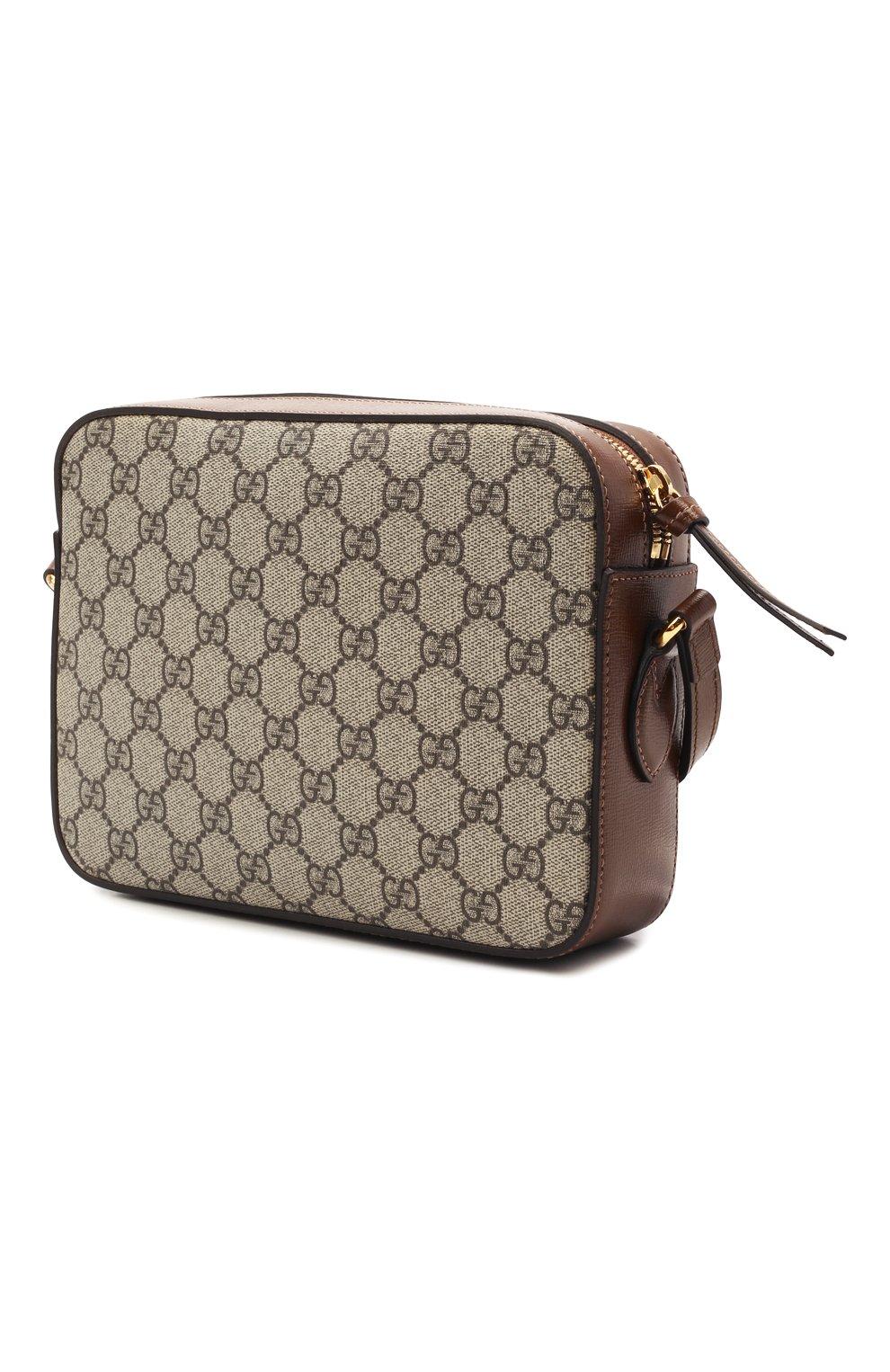 Женская сумка gg 1955 horsebit GUCCI коричневого цвета, арт. 645454/92TCG | Фото 3