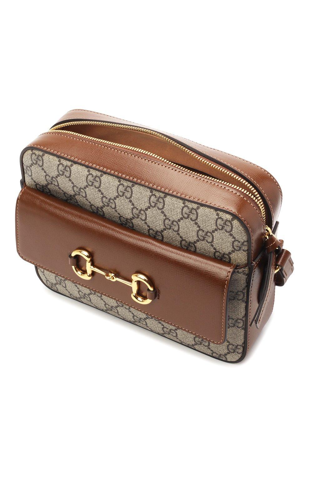 Женская сумка gg 1955 horsebit GUCCI коричневого цвета, арт. 645454/92TCG | Фото 4