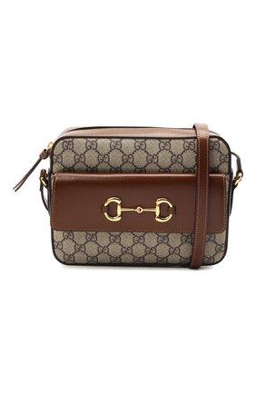 Женская сумка gg 1955 horsebit GUCCI коричневого цвета, арт. 645454/92TCG | Фото 5