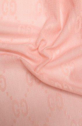 Женский шарф из шерсти и шелка GUCCI розового цвета, арт. 640680/3GG01   Фото 2