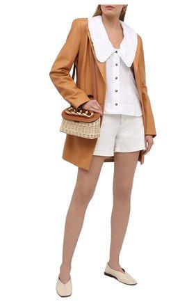 Женские джинсовые шорты STELLA MCCARTNEY белого цвета, арт. 603075/S0H38 | Фото 2