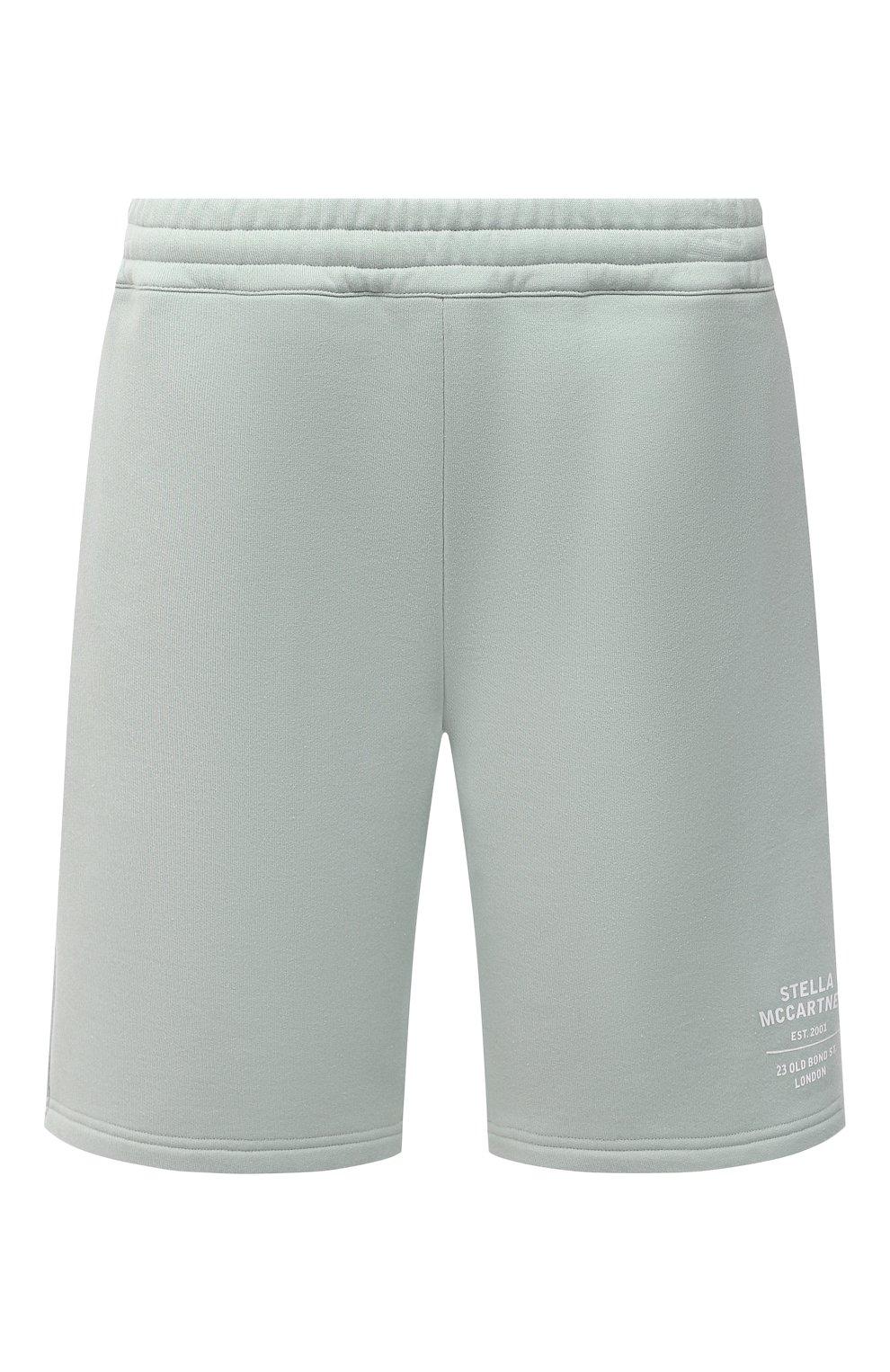 Женские хлопковые шорты STELLA MCCARTNEY светло-зеленого цвета, арт. 603073/SMP83 | Фото 1