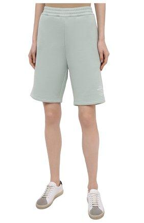 Женские хлопковые шорты STELLA MCCARTNEY светло-зеленого цвета, арт. 603073/SMP83 | Фото 3
