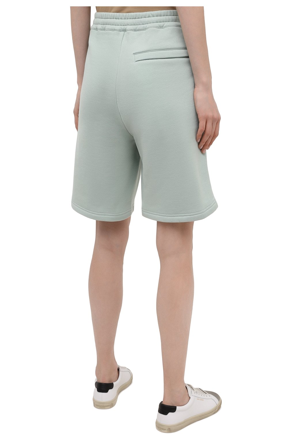 Женские хлопковые шорты STELLA MCCARTNEY светло-зеленого цвета, арт. 603073/SMP83 | Фото 4