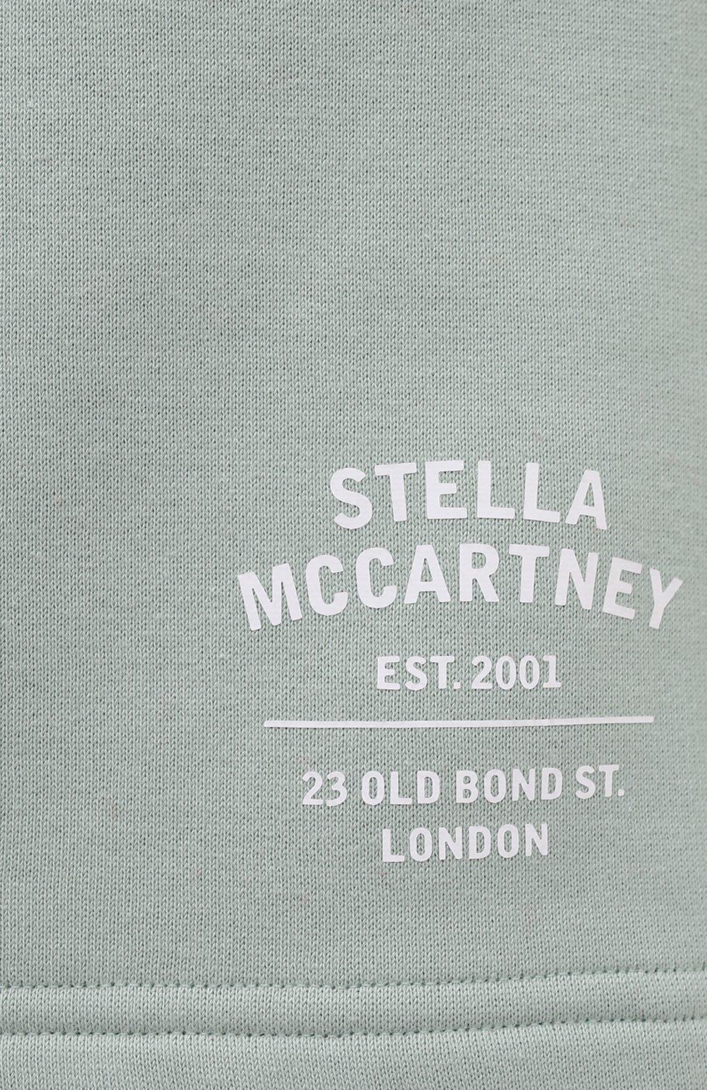 Женские хлопковые шорты STELLA MCCARTNEY светло-зеленого цвета, арт. 603073/SMP83 | Фото 5