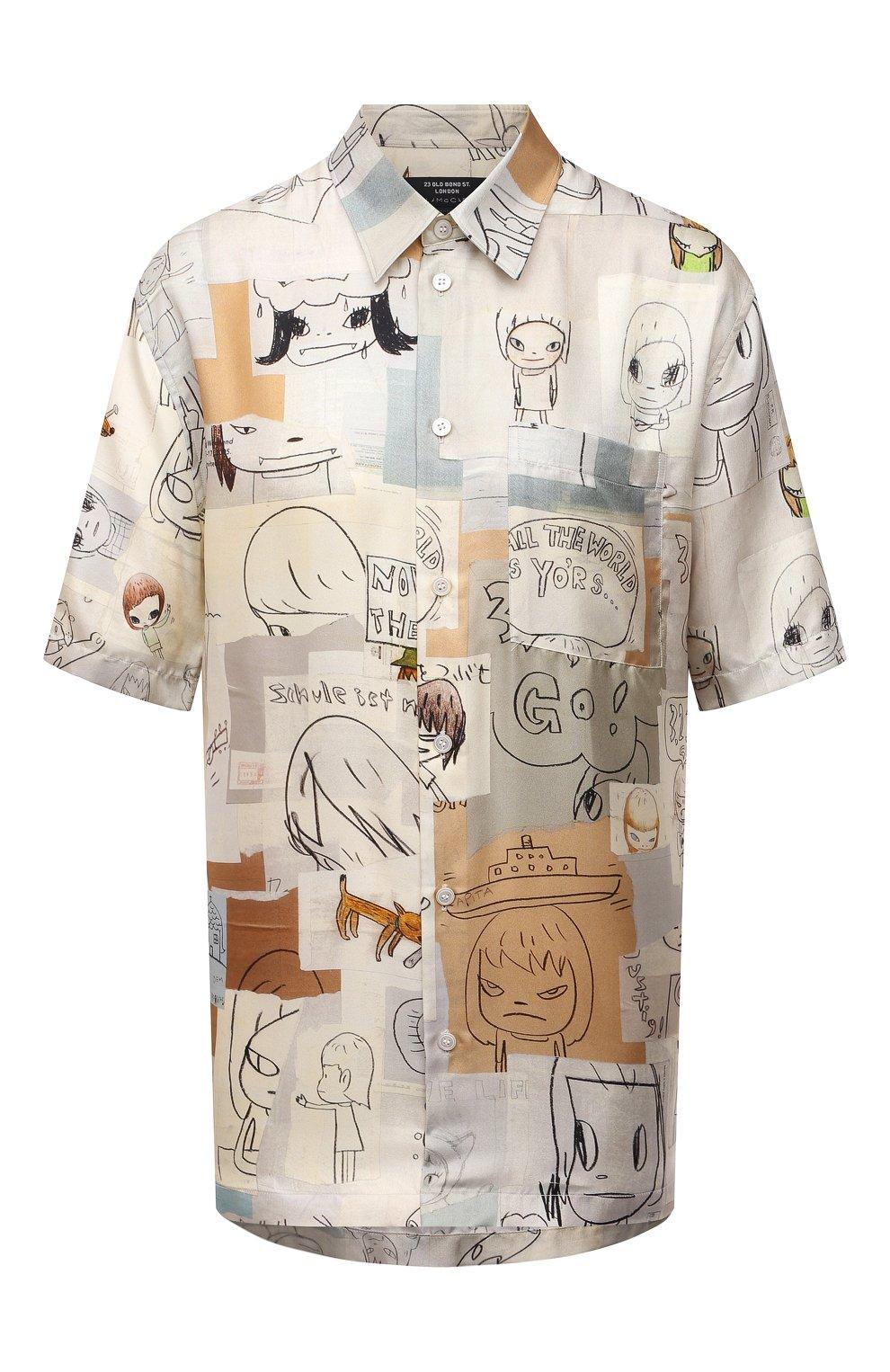 Женская шелковая рубашка STELLA MCCARTNEY бежевого цвета, арт. 603034/SRN05 | Фото 1