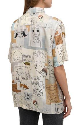 Женская шелковая рубашка STELLA MCCARTNEY бежевого цвета, арт. 603034/SRN05 | Фото 4