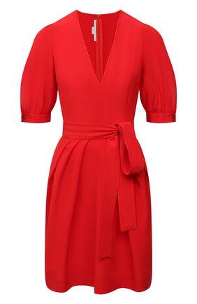 Женское шелковое платье STELLA MCCARTNEY красного цвета, арт. 602930/SY206 | Фото 1