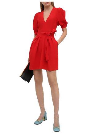 Женское шелковое платье STELLA MCCARTNEY красного цвета, арт. 602930/SY206 | Фото 2
