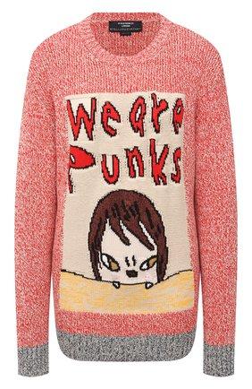 Женский хлопковый свитер STELLA MCCARTNEY красного цвета, арт. 583371/S7227 | Фото 1