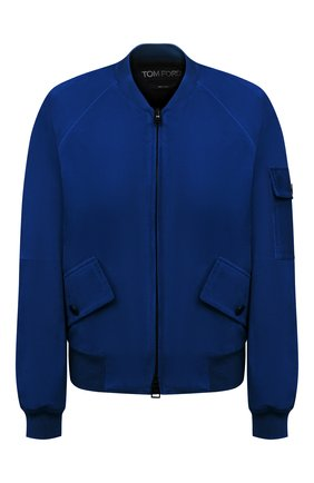 Женский замшевый бомбер TOM FORD синего цвета, арт. CSL647-LEX226 | Фото 1 (Длина (верхняя одежда): Короткие; Рукава: Длинные; Женское Кросс-КТ: Замша и кожа; Кросс-КТ: Куртка; Стили: Спорт-шик; Материал подклада: Вискоза, Синтетический материал; Материал внешний: Замша)