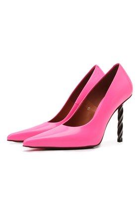 Женские кожаные туфли VETEMENTS розового цвета, арт. WE51HE100P 2471 | Фото 1