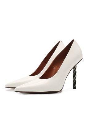 Женские кожаные туфли VETEMENTS белого цвета, арт. WE51HE100W 2471 | Фото 1