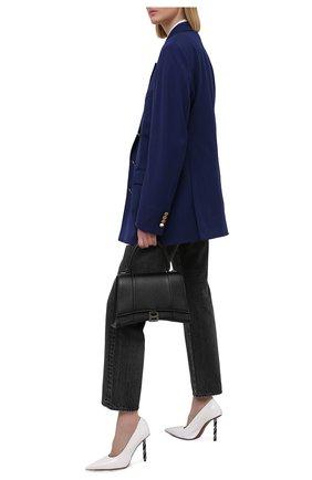 Женские кожаные туфли VETEMENTS белого цвета, арт. WE51HE100W 2471 | Фото 2