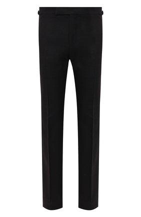 Мужские шелковые брюки TOM FORD черного цвета, арт. 915R01/610043 | Фото 1