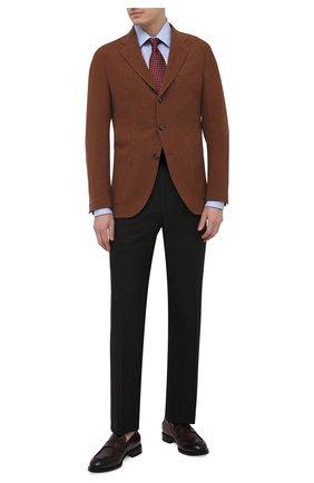 Мужские шелковые брюки TOM FORD черного цвета, арт. 915R01/610043 | Фото 2