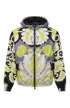 Мужская куртка VALENTINO разноцветного цвета, арт. VV3CI36879W | Фото 1 (Длина (верхняя одежда): Короткие; Рукава: Длинные; Материал подклада: Синтетический материал; Материал внешний: Синтетический материал; Стили: Кэжуэл; Кросс-КТ: Куртка, Ветровка)