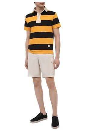 Мужское хлопковое поло GUCCI желтого цвета, арт. 645251/XJC6F | Фото 2