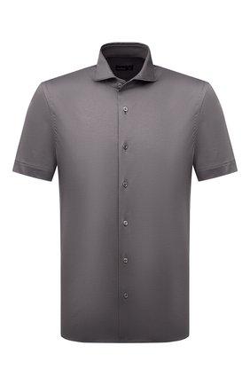 Мужская хлопковая рубашка VAN LAACK темно-серого цвета, арт. M-PER0N-SSF/180031 | Фото 1