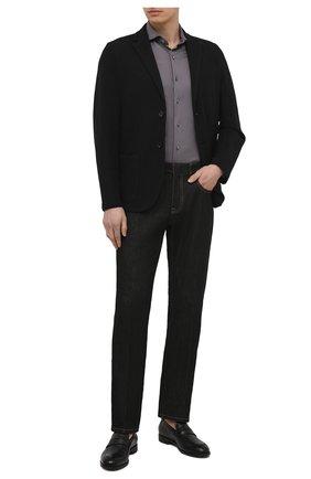 Мужская хлопковая рубашка VAN LAACK темно-серого цвета, арт. M-PER0N-SSF/180031 | Фото 2