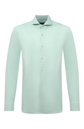Мужская хлопковая рубашка VAN LAACK светло-зеленого цвета, арт. M-PER-LSF/180031 | Фото 1
