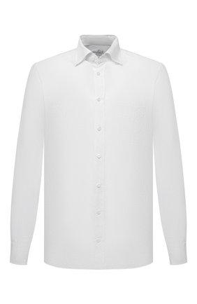 Мужская льняная рубашка VAN LAACK белого цвета, арт. RADIL-TFW/155970 | Фото 1 (Материал внешний: Лен; Длина (для топов): Стандартные; Рукава: Длинные; Случай: Повседневный; Рубашки М: Regular Fit; Манжеты: На пуговицах; Принт: Однотонные; Воротник: Button down; Стили: Кэжуэл)