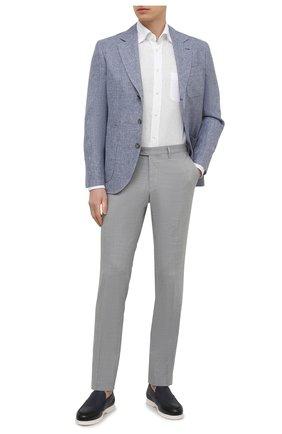Мужская льняная рубашка VAN LAACK белого цвета, арт. RADIL-TFW/155970 | Фото 2 (Материал внешний: Лен; Длина (для топов): Стандартные; Рукава: Длинные; Случай: Повседневный; Рубашки М: Regular Fit; Манжеты: На пуговицах; Принт: Однотонные; Воротник: Button down; Стили: Кэжуэл)