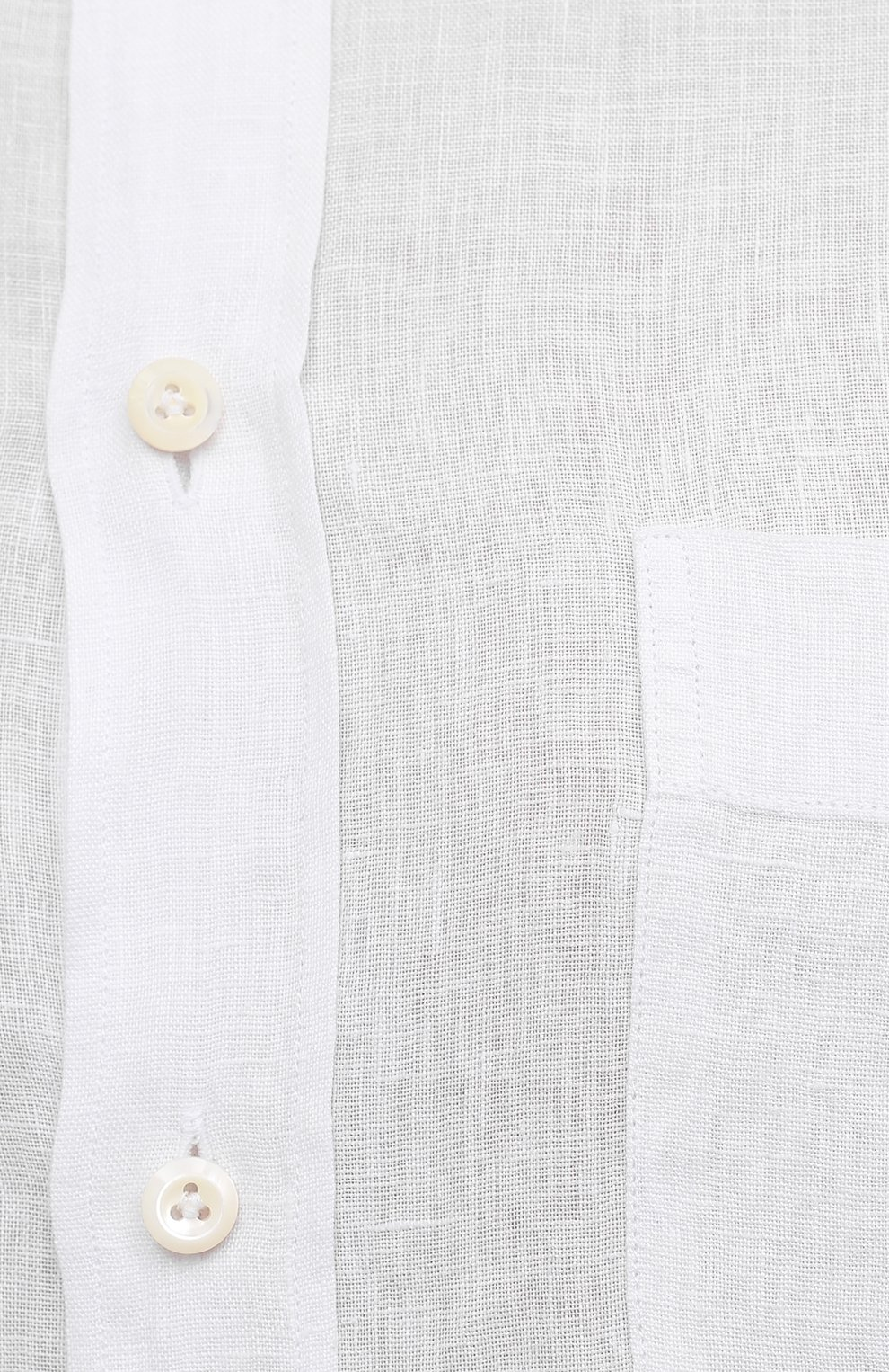 Мужская льняная рубашка VAN LAACK белого цвета, арт. RADIL-TFW/155970   Фото 5 (Манжеты: На пуговицах; Воротник: Button down; Рукава: Длинные; Рубашки М: Regular Fit; Случай: Повседневный; Длина (для топов): Стандартные; Материал внешний: Лен; Принт: Однотонные; Стили: Кэжуэл)