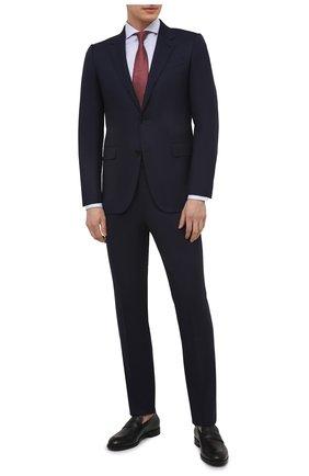 Мужская хлопковая сорочка VAN LAACK голубого цвета, арт. RES0-SF/161498 | Фото 2 (Рукава: Длинные; Длина (для топов): Стандартные; Материал внешний: Хлопок; Случай: Формальный; Рубашки М: Slim Fit; Манжеты: На пуговицах; Принт: Клетка; Воротник: Акула; Стили: Классический)