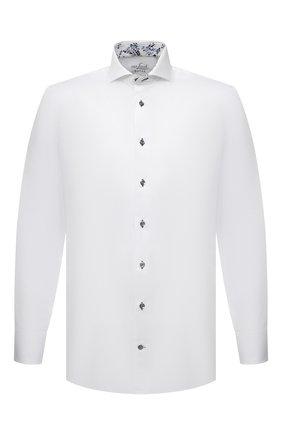 Мужская хлопковая сорочка VAN LAACK белого цвета, арт. RES0-SF05C1N/150018 | Фото 1 (Рукава: Длинные; Материал внешний: Хлопок; Длина (для топов): Стандартные; Случай: Формальный; Рубашки М: Slim Fit; Манжеты: На пуговицах; Принт: Однотонные; Воротник: Акула; Стили: Классический)
