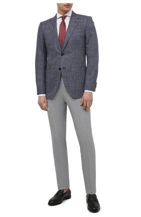 Мужская хлопковая сорочка VAN LAACK белого цвета, арт. RES0-SF05C1N/150018 | Фото 2 (Рукава: Длинные; Материал внешний: Хлопок; Длина (для топов): Стандартные; Случай: Формальный; Рубашки М: Slim Fit; Манжеты: На пуговицах; Принт: Однотонные; Воротник: Акула; Стили: Классический)