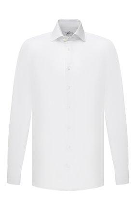 Мужская хлопковая сорочка VAN LAACK белого цвета, арт. RIVARA-LSF/130648 | Фото 1 (Длина (для топов): Стандартные; Рукава: Длинные; Материал внешний: Хлопок; Случай: Формальный; Рубашки М: Slim Fit; Манжеты: На пуговицах; Принт: Однотонные; Воротник: Акула; Стили: Классический)