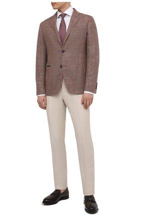 Мужская хлопковая сорочка VAN LAACK белого цвета, арт. RIVARA-LSF/130648 | Фото 2 (Длина (для топов): Стандартные; Рукава: Длинные; Материал внешний: Хлопок; Случай: Формальный; Рубашки М: Slim Fit; Манжеты: На пуговицах; Принт: Однотонные; Воротник: Акула; Стили: Классический)