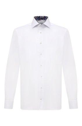 Мужская хлопковая сорочка VAN LAACK белого цвета, арт. RIVARA-LTF05N/150018 | Фото 1 (Рукава: Длинные; Длина (для топов): Стандартные; Материал внешний: Хлопок; Случай: Формальный; Рубашки М: Regular Fit; Манжеты: На пуговицах; Принт: Однотонные; Воротник: Акула; Стили: Классический)