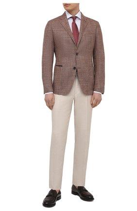 Мужская хлопковая сорочка VAN LAACK белого цвета, арт. RIVARA-LTF05N/150018 | Фото 2 (Рукава: Длинные; Длина (для топов): Стандартные; Материал внешний: Хлопок; Случай: Формальный; Рубашки М: Regular Fit; Манжеты: На пуговицах; Принт: Однотонные; Воротник: Акула; Стили: Классический)