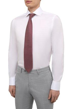 Мужская хлопковая сорочка VAN LAACK белого цвета, арт. RIVARA-SF02/150189   Фото 4 (Манжеты: На пуговицах; Рукава: Длинные; Воротник: Акула; Длина (для топов): Стандартные; Рубашки М: Slim Fit; Материал внешний: Хлопок; Стили: Классический; Случай: Формальный; Принт: Однотонные)