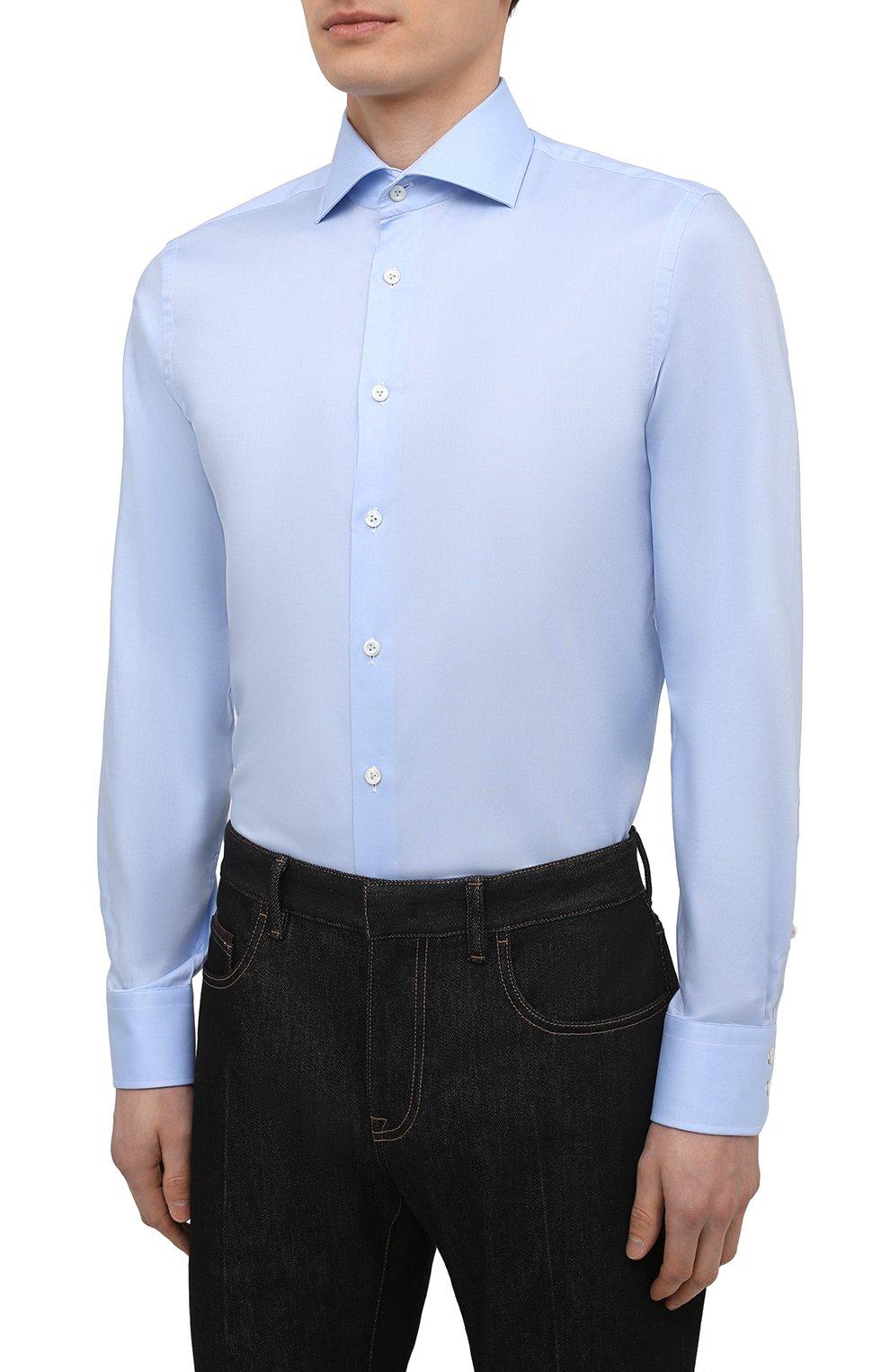 Мужская хлопковая сорочка VAN LAACK голубого цвета, арт. RIVARA-SF02/150189 | Фото 3