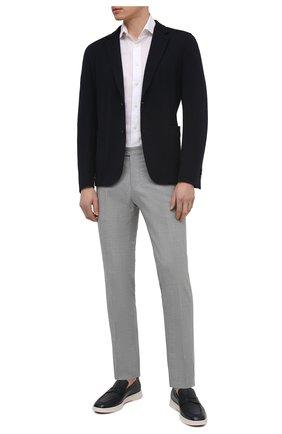 Мужская сорочка из хлопка и льна VAN LAACK белого цвета, арт. RIVARA-S-TF/160006 | Фото 2 (Рукава: Короткие; Материал внешний: Хлопок, Лен; Длина (для топов): Стандартные; Случай: Формальный; Рубашки М: Regular Fit; Принт: Однотонные; Воротник: Акула; Стили: Классический)