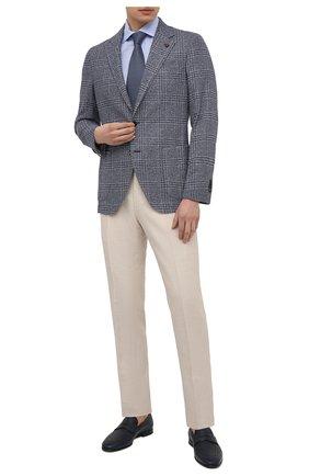 Мужская сорочка из хлопка и льна VAN LAACK голубого цвета, арт. RIVARA-S-TF/160006 | Фото 2