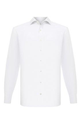 Мужская хлопковая сорочка VAN LAACK белого цвета, арт. RIVARA-TF/150157 | Фото 1 (Длина (для топов): Стандартные; Рукава: Длинные; Материал внешний: Хлопок; Случай: Формальный; Рубашки М: Regular Fit; Манжеты: На пуговицах; Принт: Однотонные; Воротник: Акула; Стили: Классический)